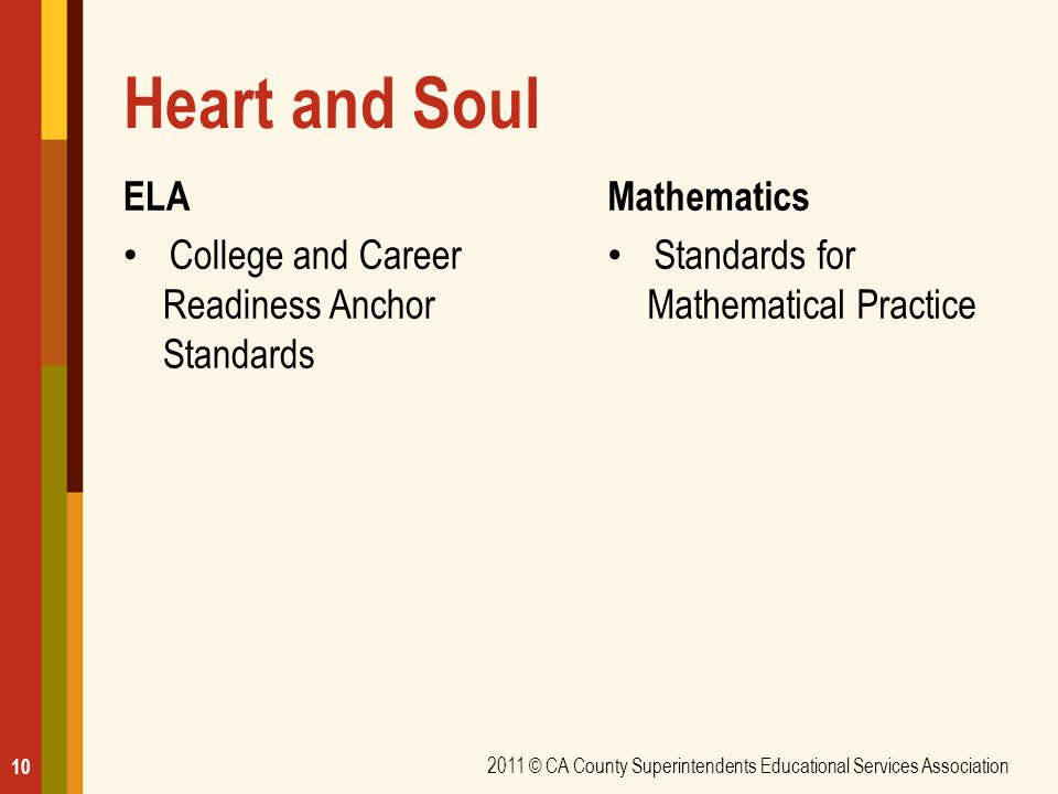 Heart and Soul ELA College and Career Readiness Anchor Standards