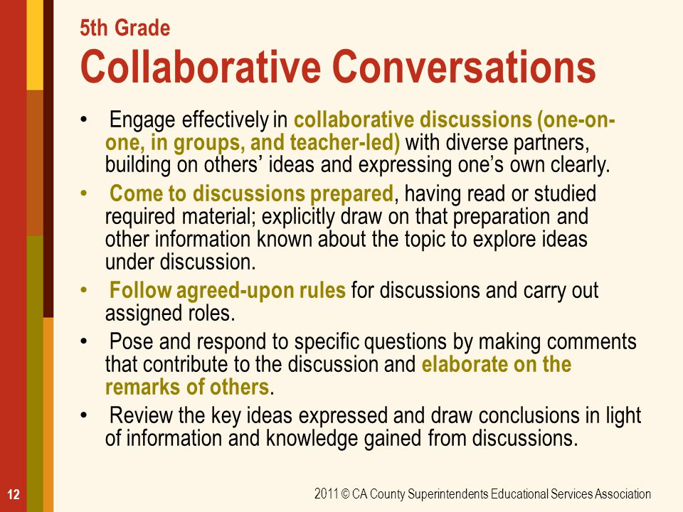 5th Grade Collaborative Conversations