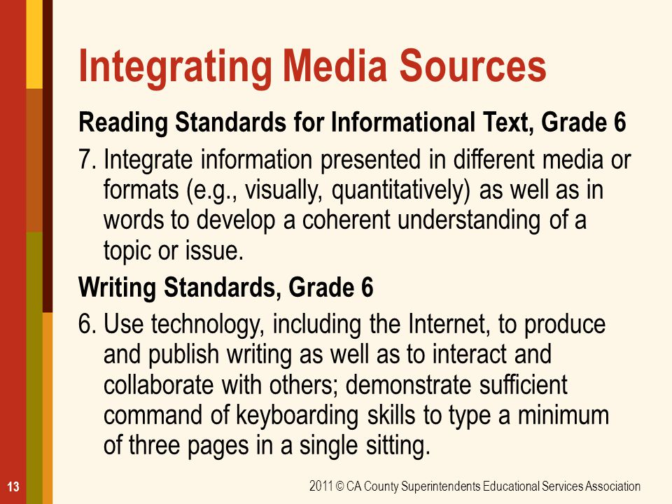 Integrating Media Sources