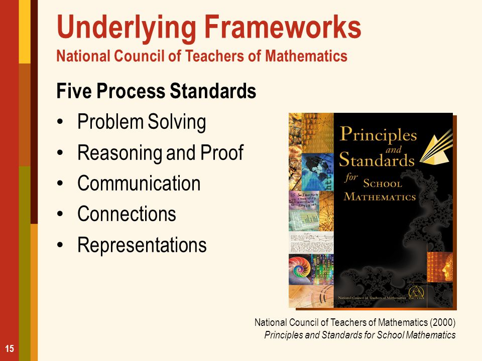 Underlying Frameworks National Council of Teachers of Mathematics