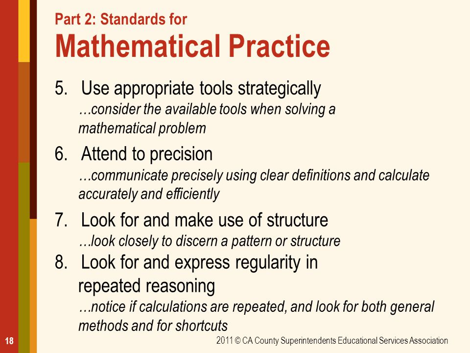 Part 2: Standards for Mathematical Practice