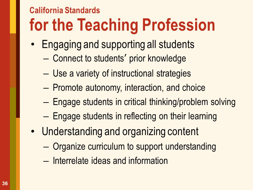California Standards for the Teaching Profession