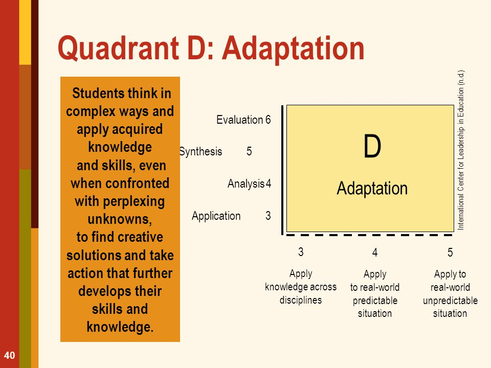 Quadrant D: Adaptation