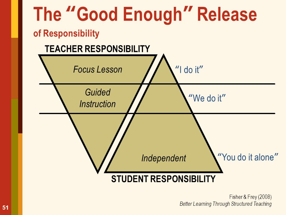 The Good Enough Release of Responsibility