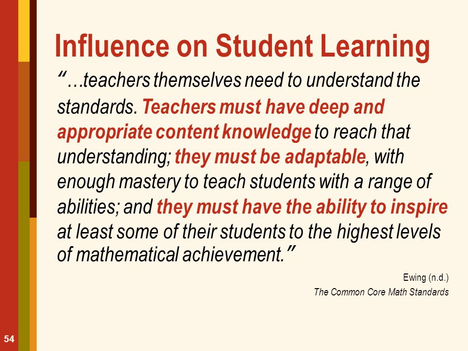 Influence on Student Learning