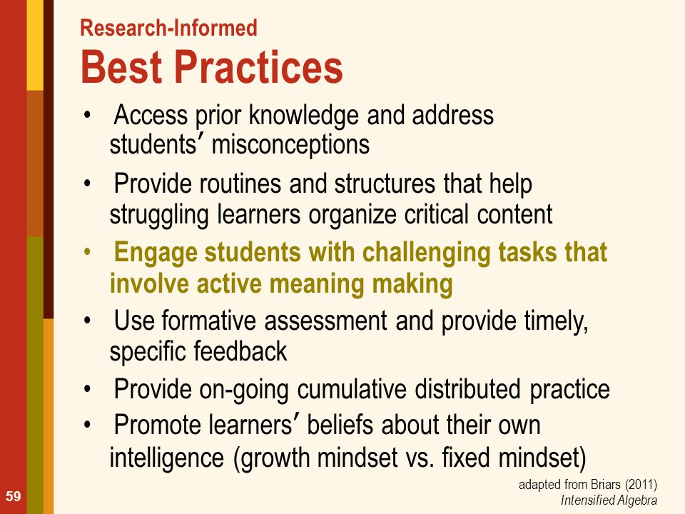 Research-Informed Best Practices