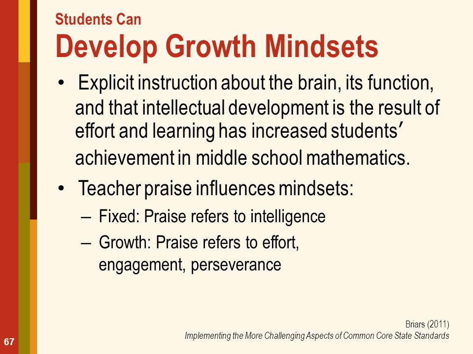 Students Can Develop Growth Mindsets