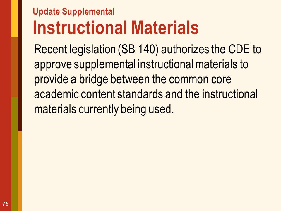 Update Supplemental Instructional Materials
