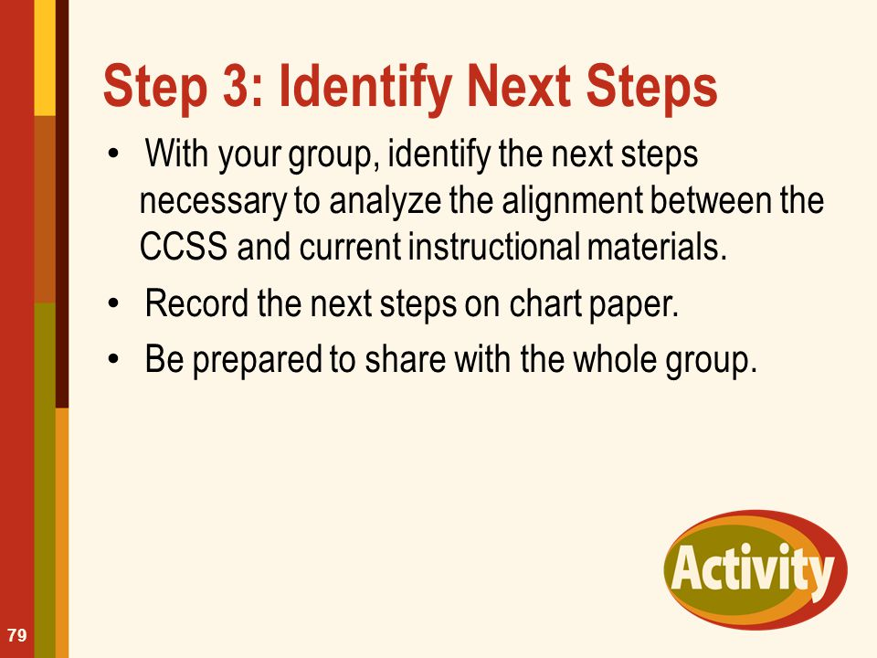 Step 3: Identify Next Steps