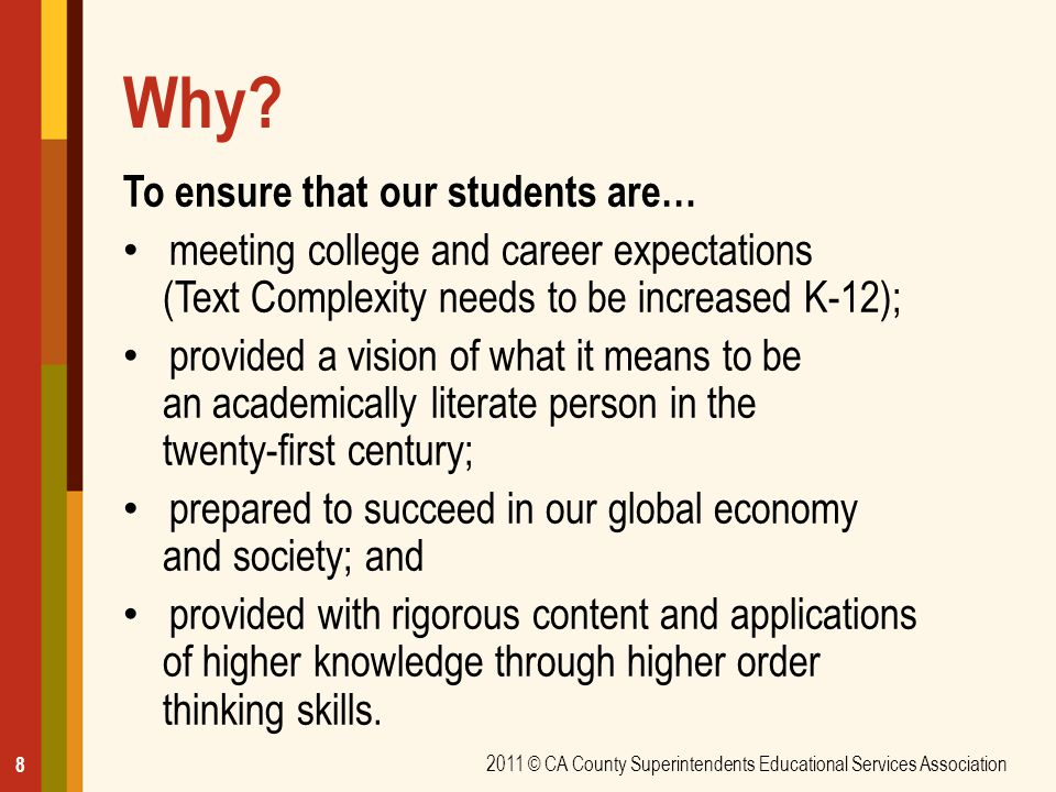 Why To ensure that our students are…