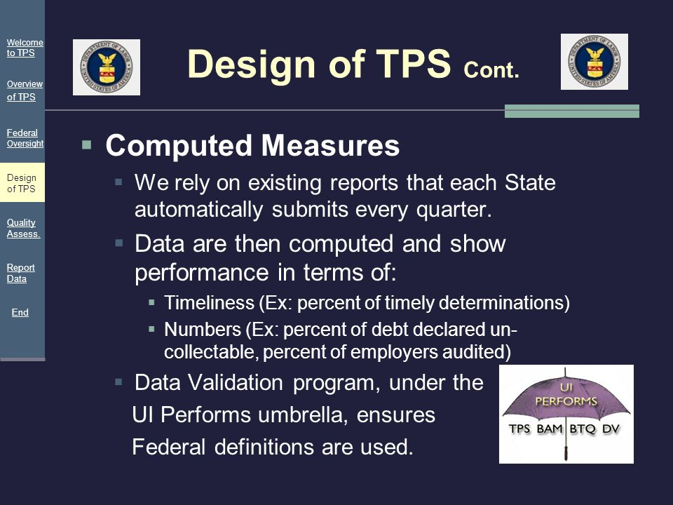 Design of TPS Cont. Computed Measures