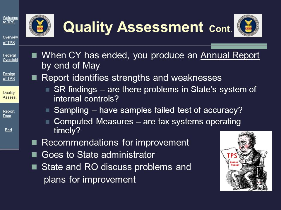 Quality Assessment Cont.