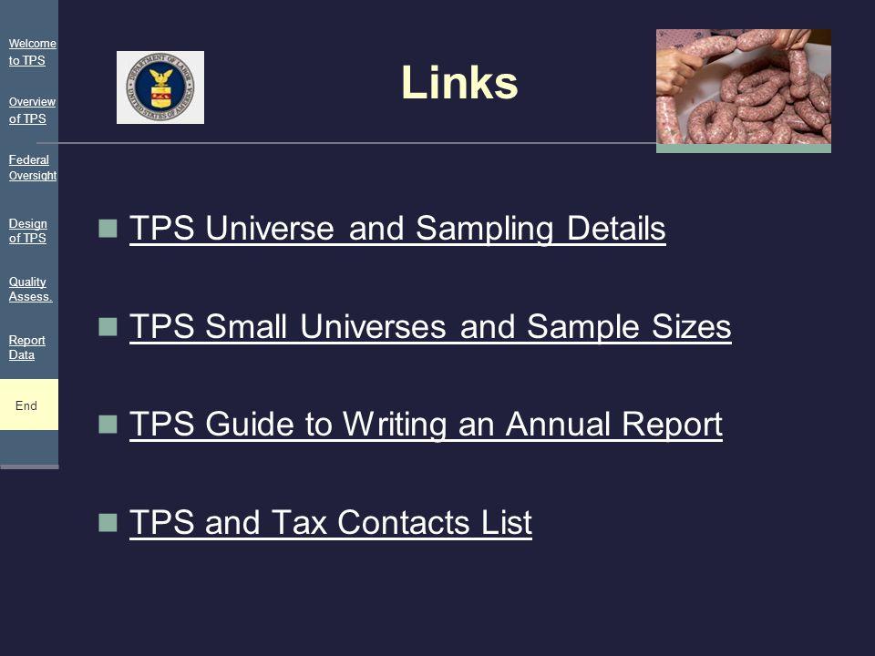 Links TPS Universe and Sampling Details