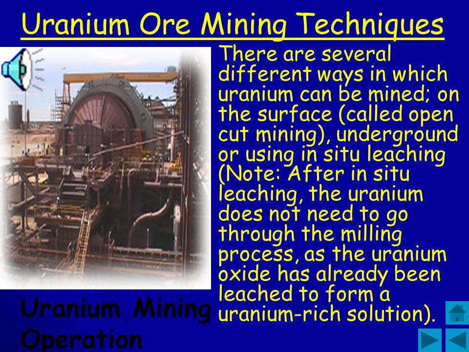 Uranium Ore Mining Techniques