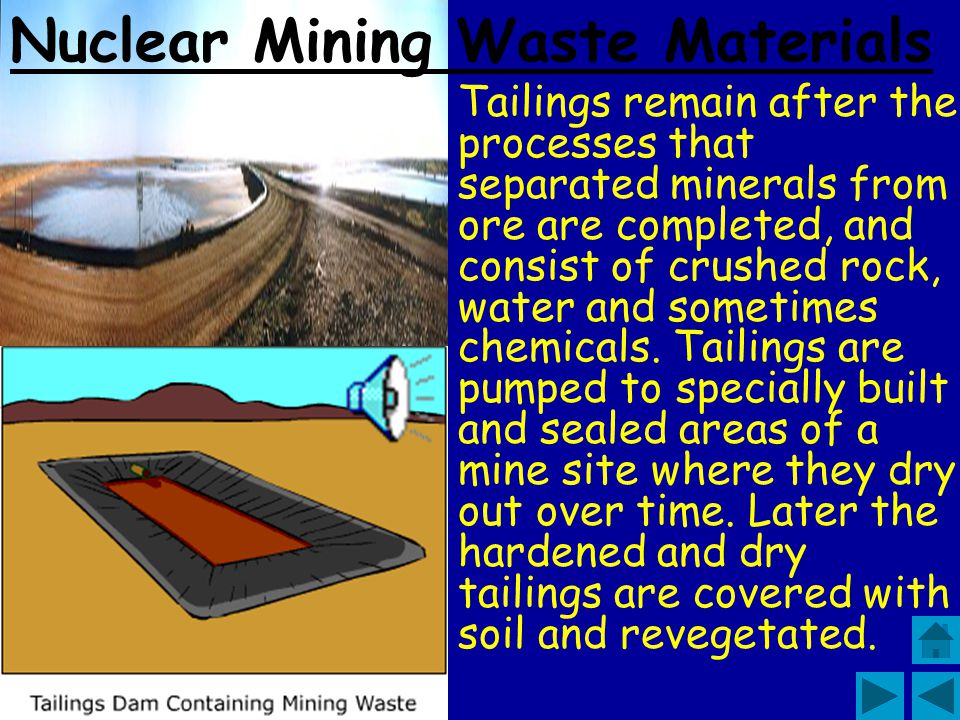 Nuclear Mining Waste Materials