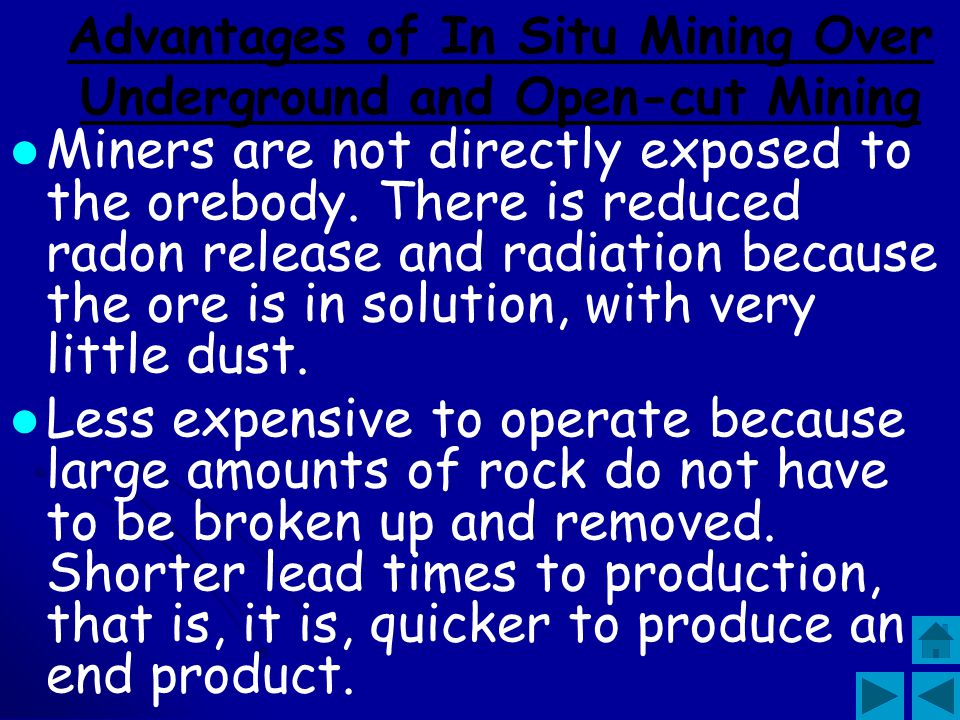 Advantages of In Situ Mining Over Underground and Open-cut Mining