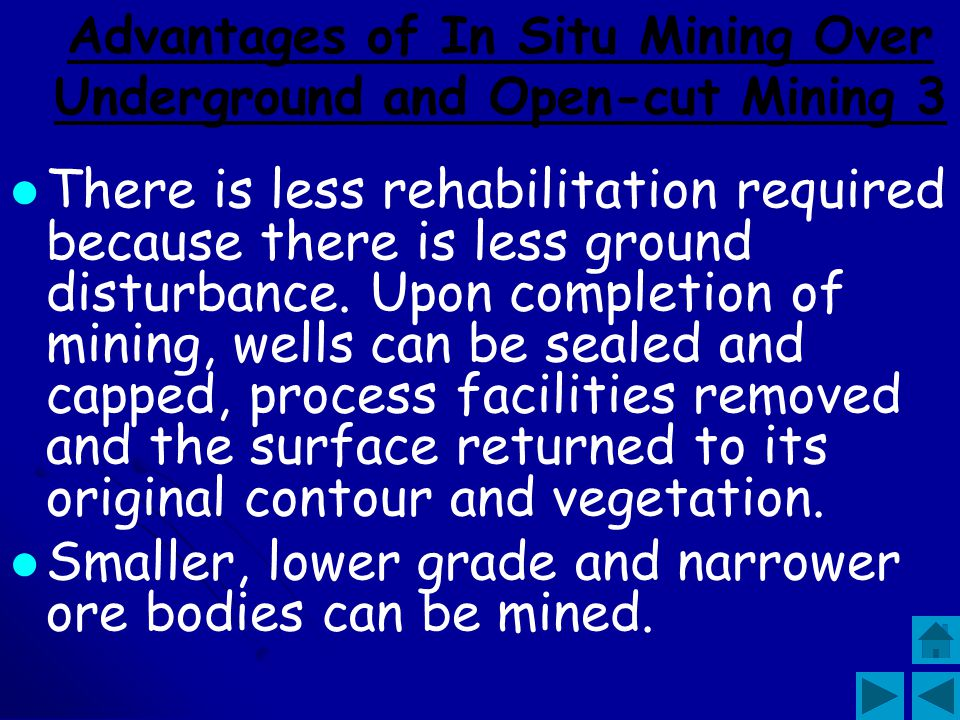 Advantages of In Situ Mining Over Underground and Open-cut Mining 3