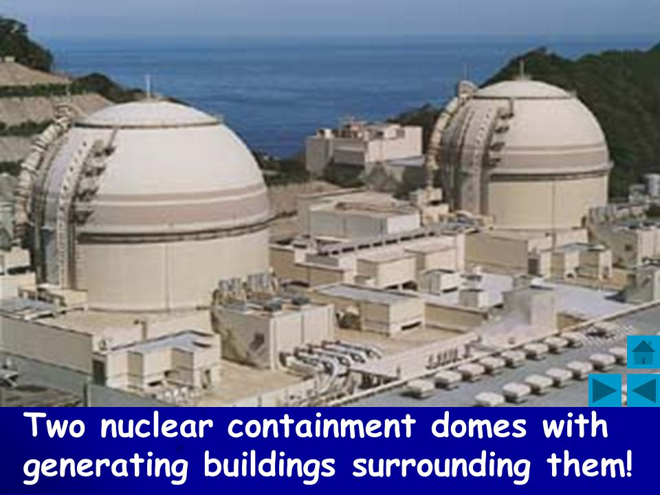 Two nuclear containment domes with