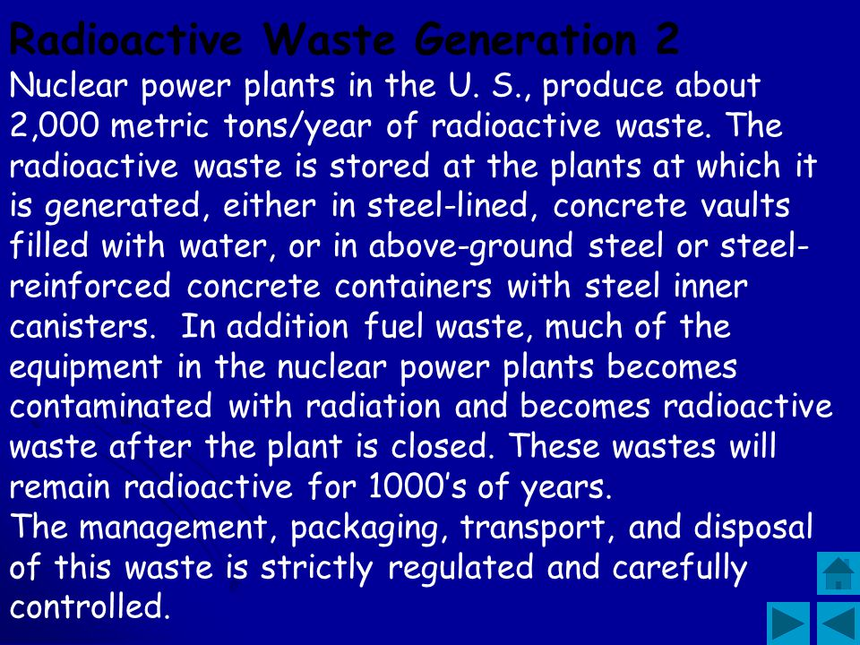 Radioactive Waste Generation 2