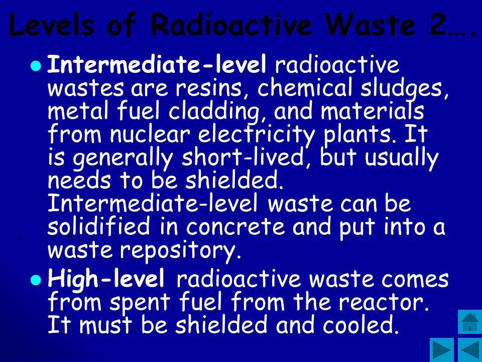 Levels of Radioactive Waste 2….