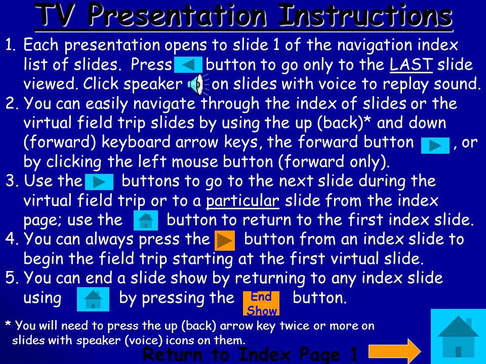 TV Presentation Instructions
