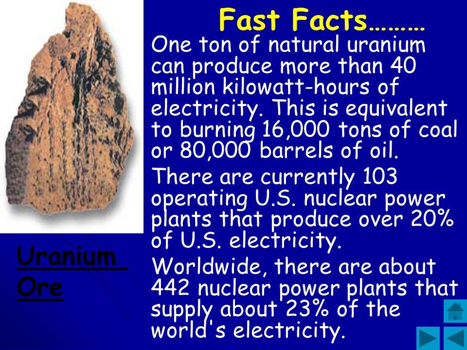 Fast Facts……… Uranium Ore