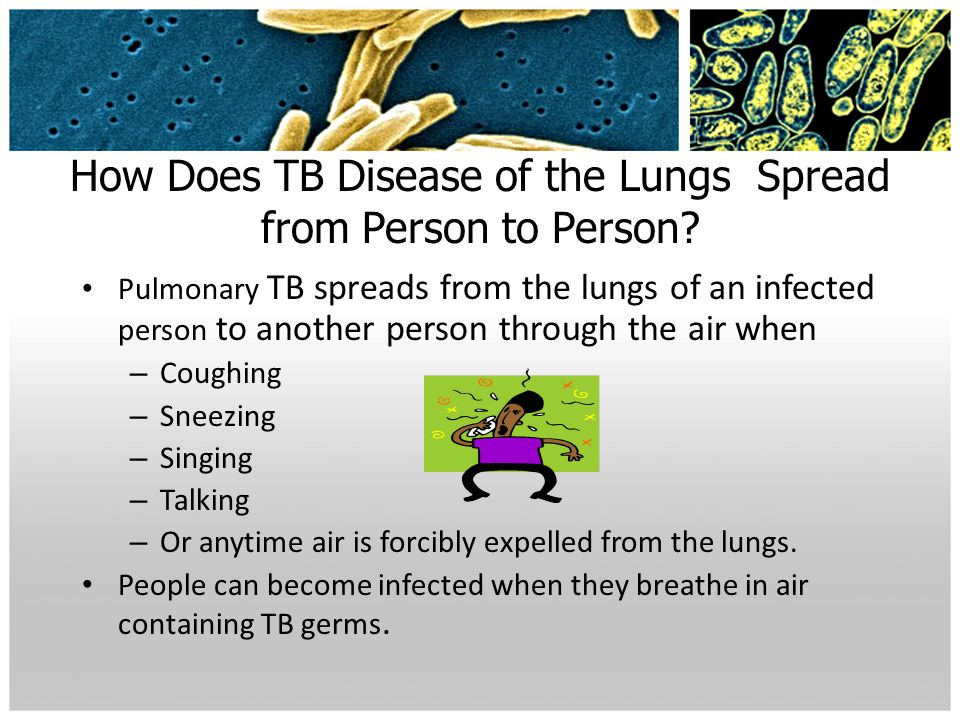 How Does TB Disease of the Lungs Spread from Person to Person