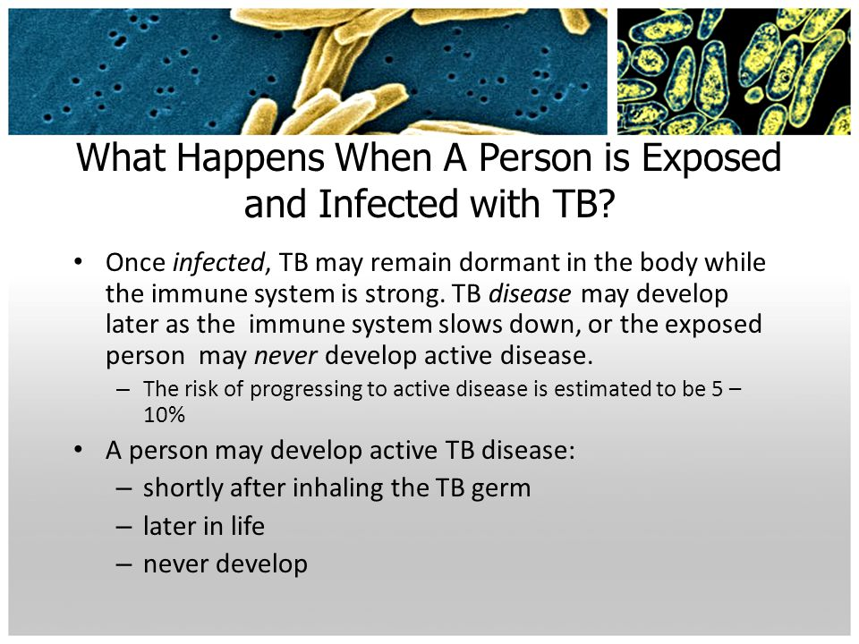 What Happens When A Person is Exposed and Infected with TB