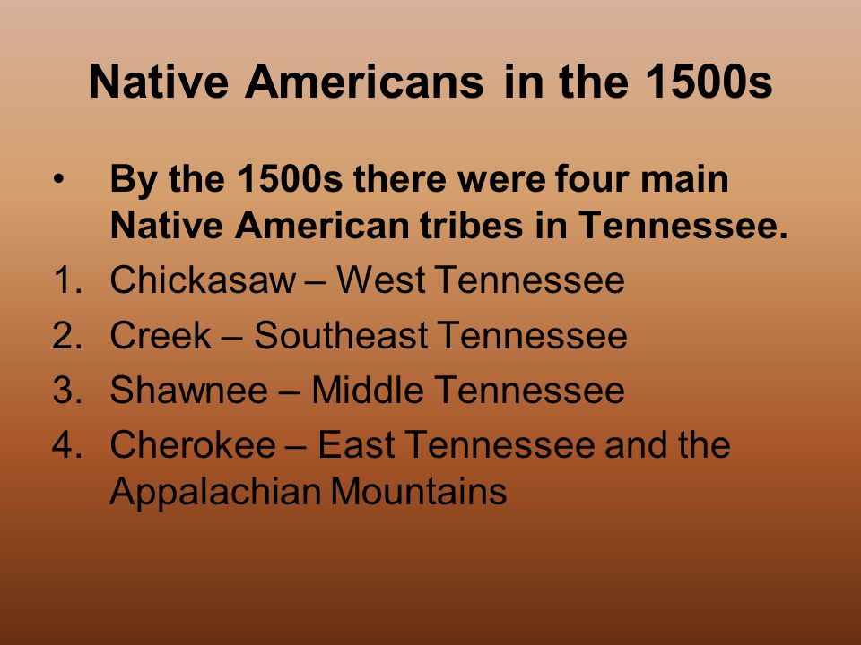 Native Americans in the 1500s