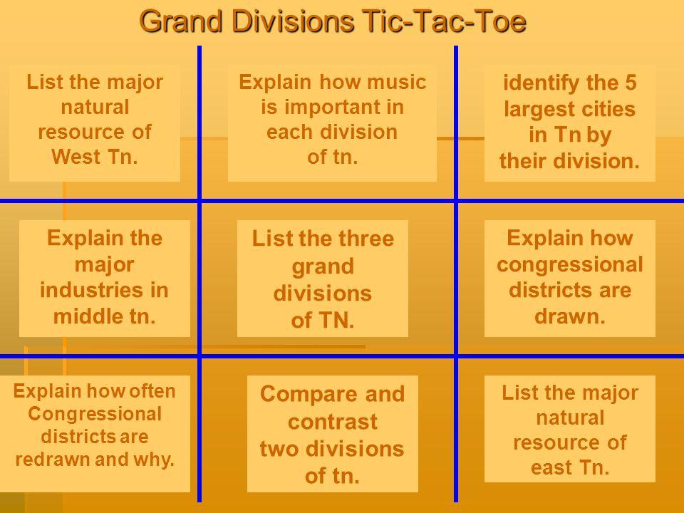 Grand Divisions Tic-Tac-Toe