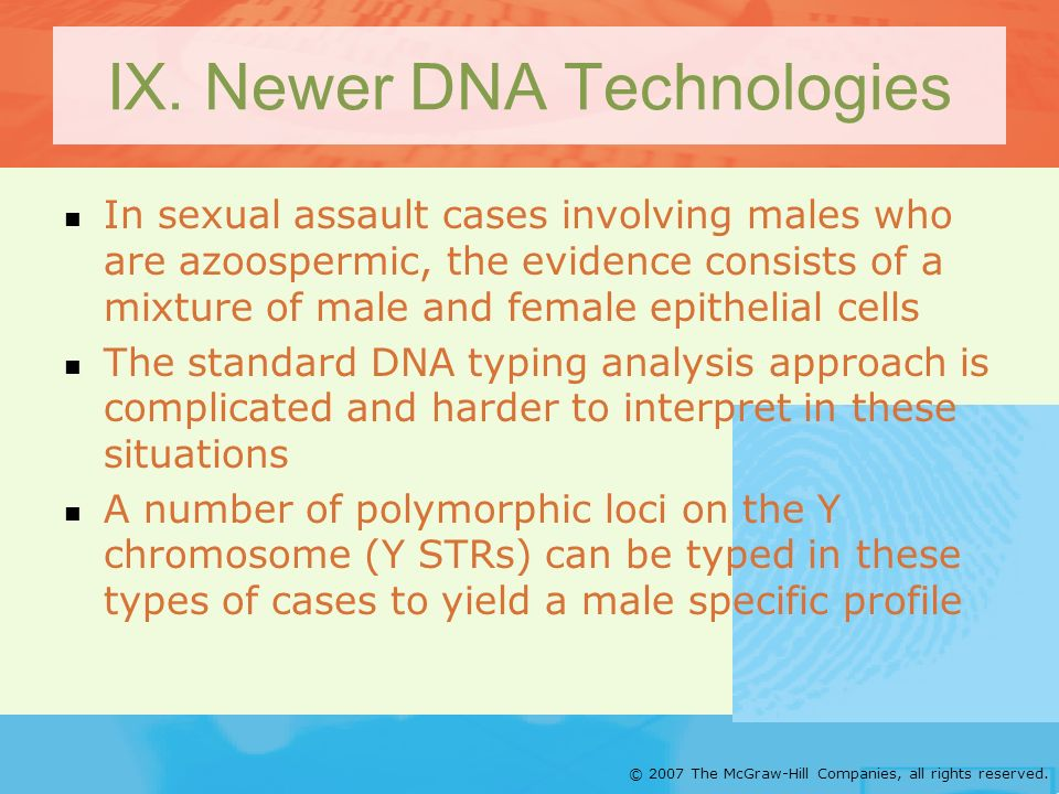 IX. Newer DNA Technologies