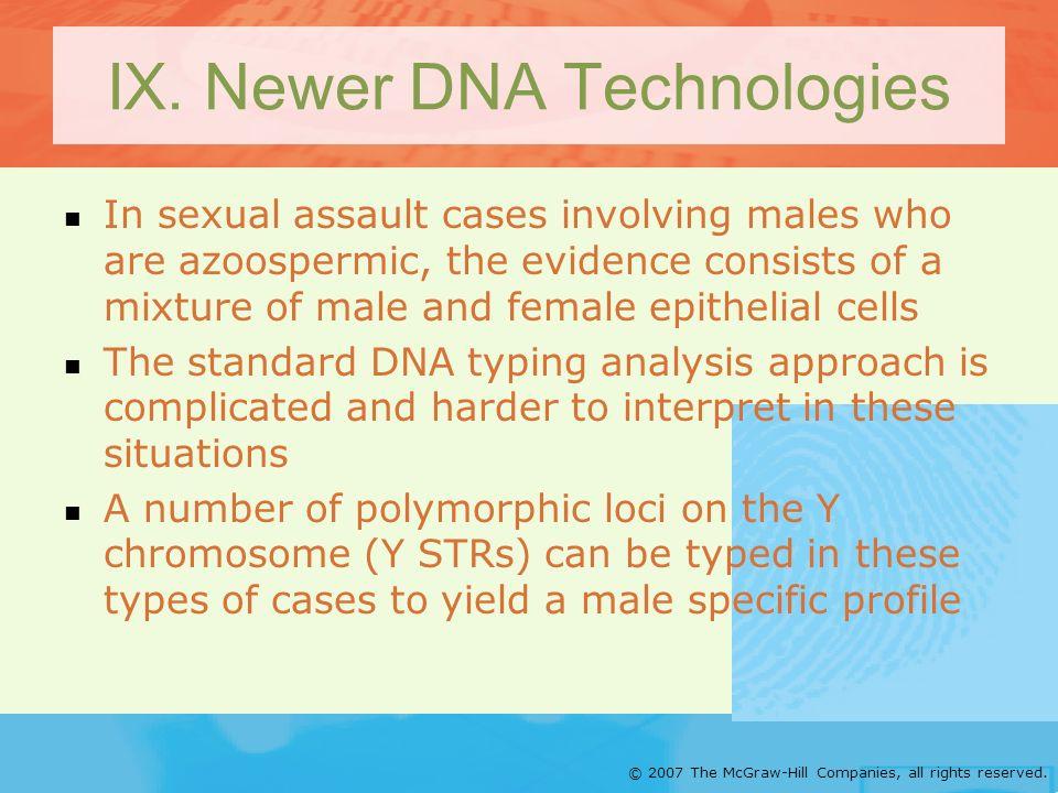 IX. Newer DNA Technologies