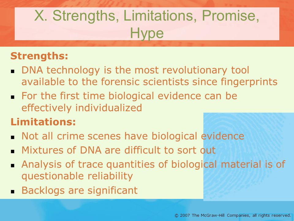 X. Strengths, Limitations, Promise, Hype