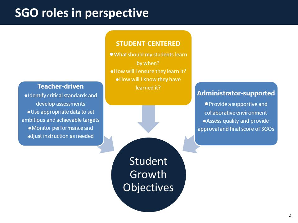 SGO roles in perspective