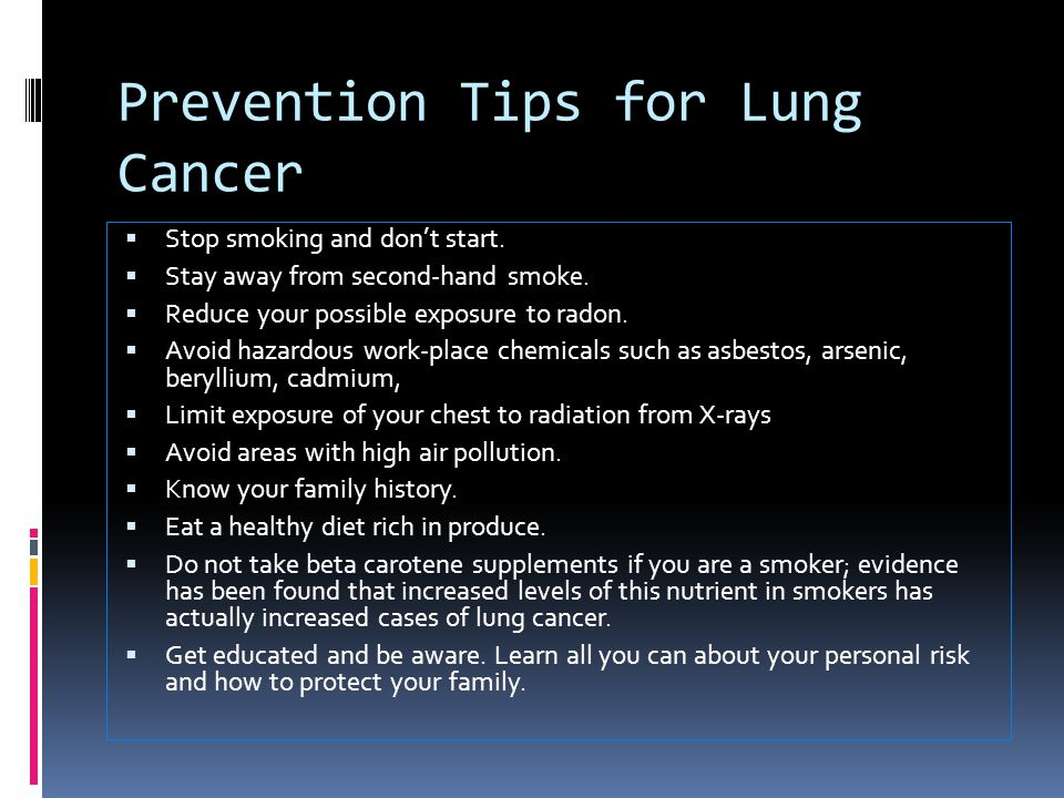Prevention Tips for Lung Cancer