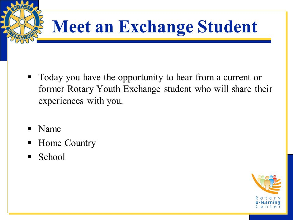 Meet an Exchange Student