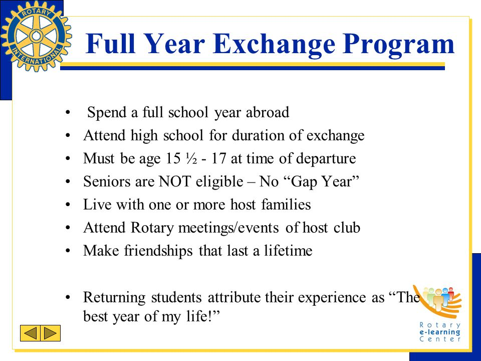 Full Year Exchange Program