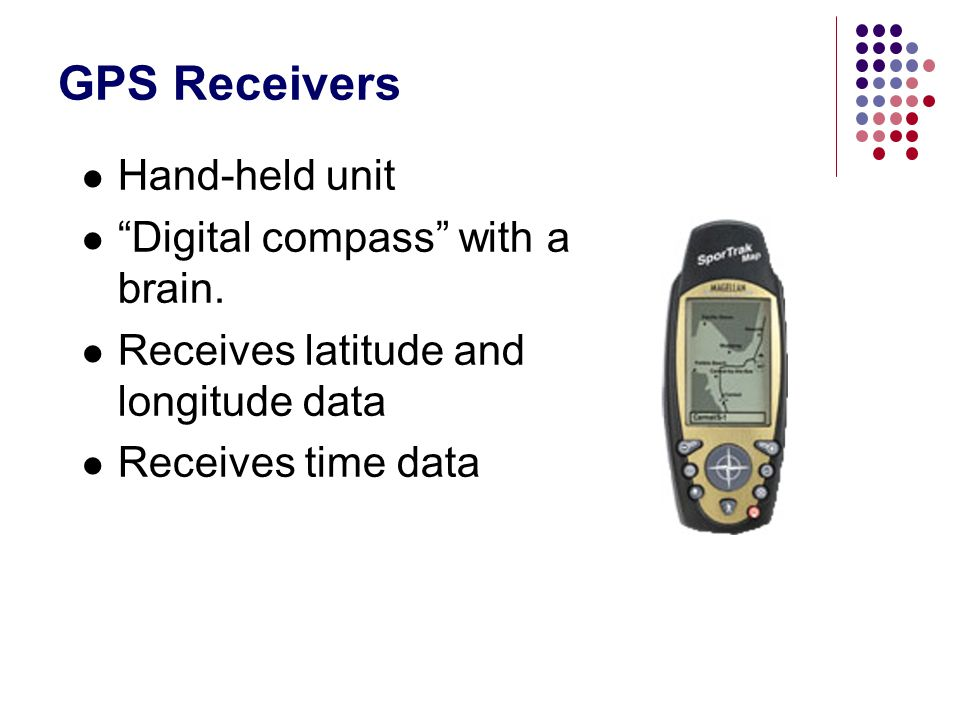 GPS Receivers Hand-held unit Digital compass with a brain.
