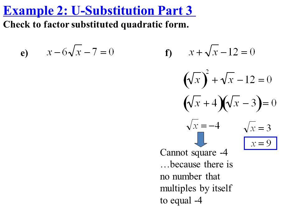 Example 2: U-Substitution Part 3