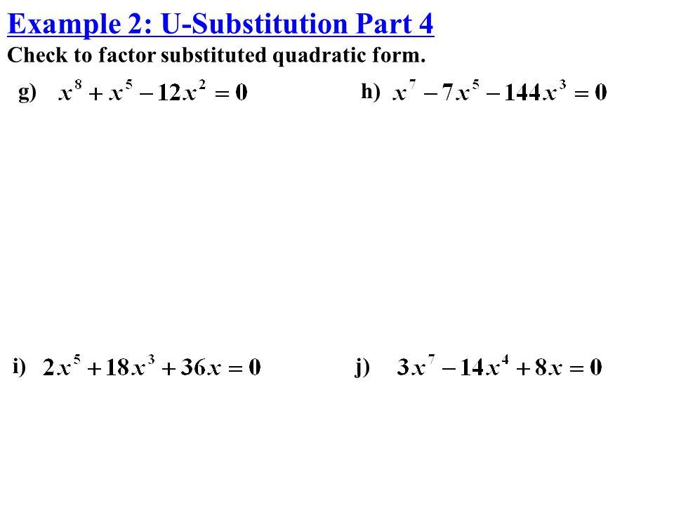 Example 2: U-Substitution Part 4