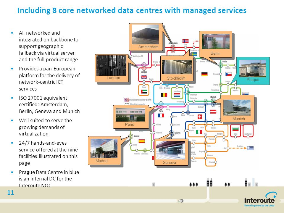 Including 8 core networked data centres with managed services