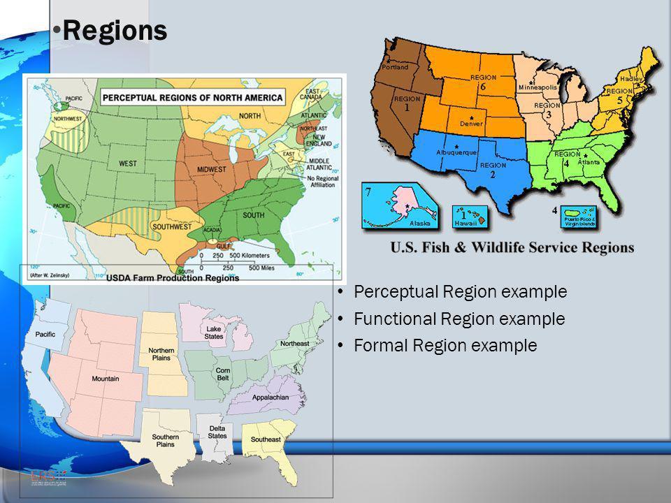 Regions Perceptual Region example Functional Region example