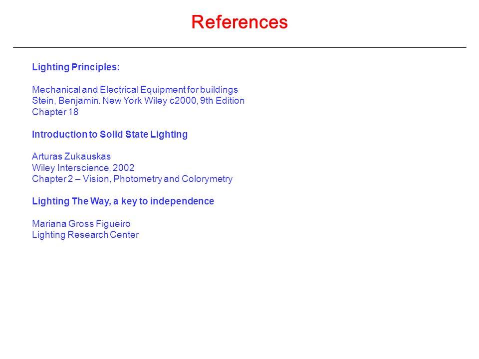 References Lighting Principles: