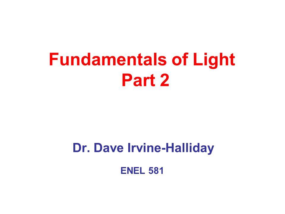 Fundamentals of Light Part 2