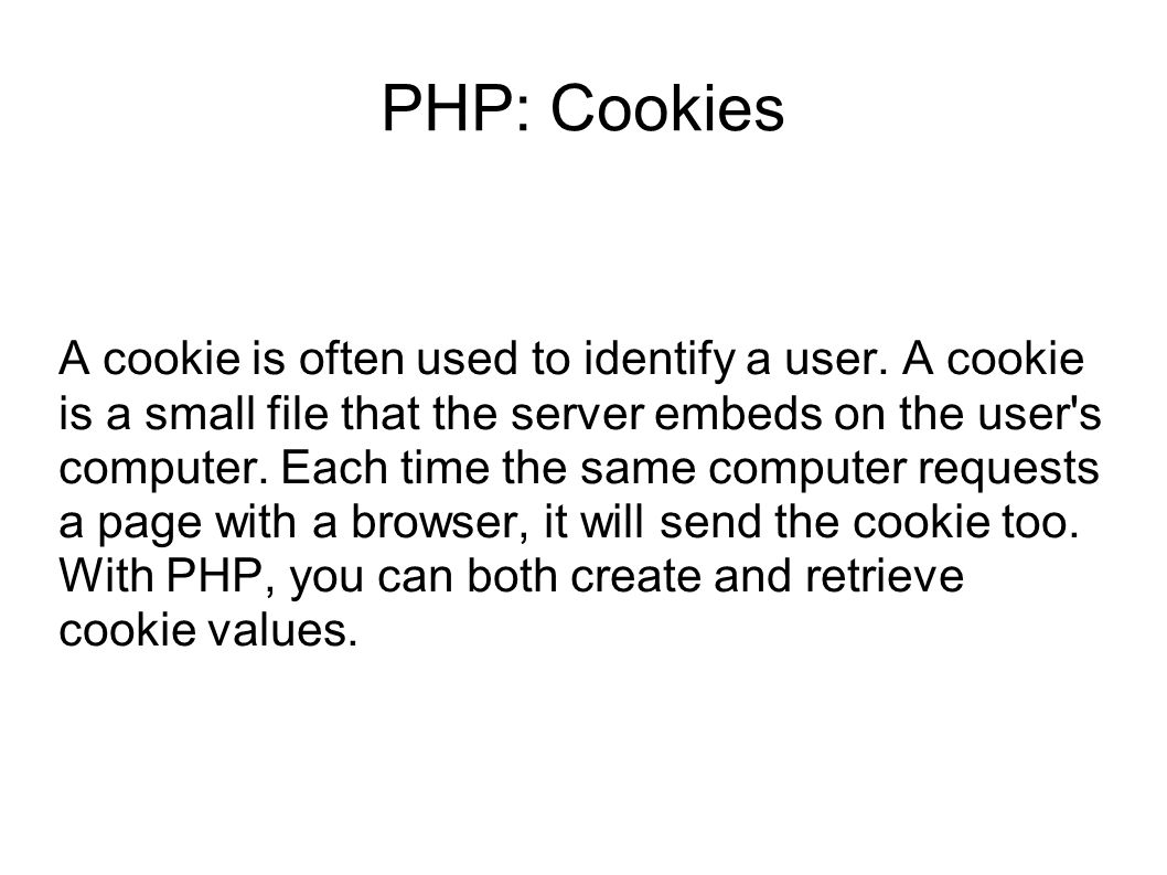 PHP: Cookies
