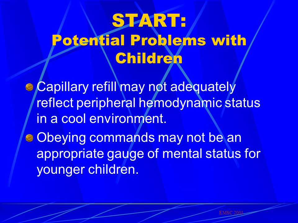 START: Potential Problems with Children