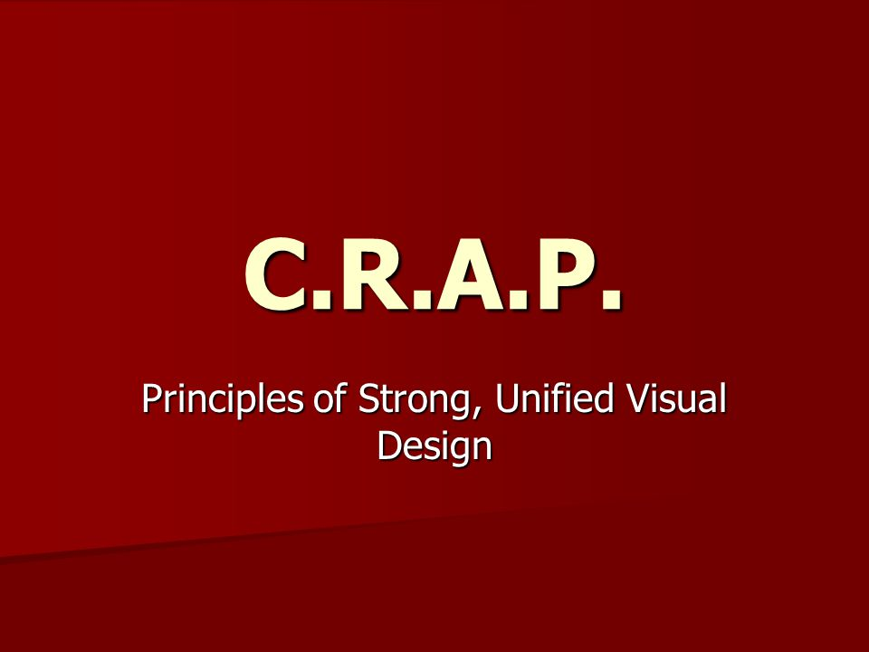 Principles of Strong, Unified Visual Design