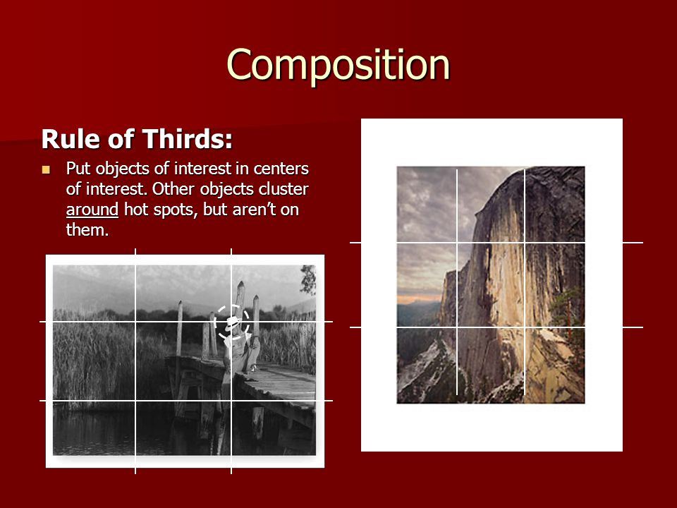 Composition Rule of Thirds: