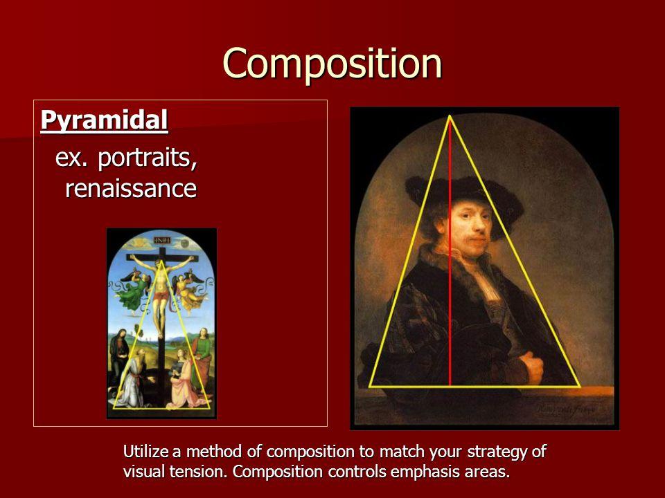 Composition Pyramidal ex. portraits, renaissance
