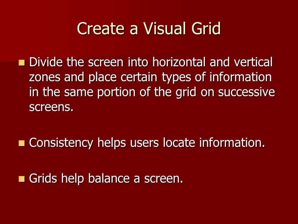 Create a Visual Grid